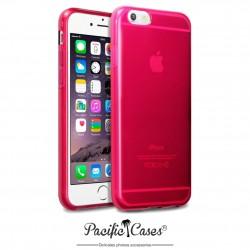 Coque gel pour iPhone 6 rouge translucide