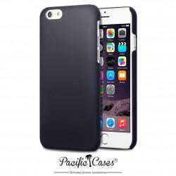 Coque pour iPhone 6 noire rigide touché gomme