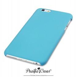 Coque pour iPhone 6 Plus bleu clair rigide touché gomme