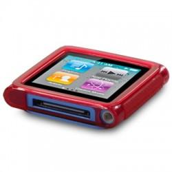 Coque gel rouge pour lecteur MP3 Nano 6