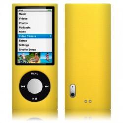 Coque silicone jaune pour iPod Nano 5