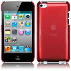 Coque cristal rouge pour iPod Touch 4