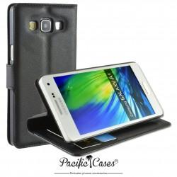 étui pour Samsung A5 ouverture folio et fonction stand par Pacific Cases® - noir