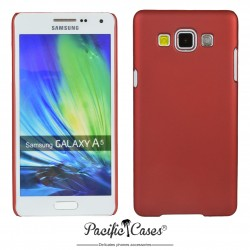 Coque pour Samsung A5 touché gomme marque Pacific Cases® - rouge