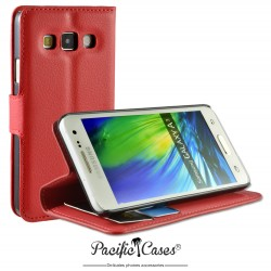 étui pour Samsung A3 ouverture folio et fonction stand par Pacific Cases® - rouge