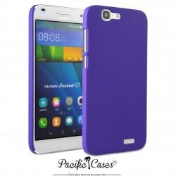 Coque pour Huawei Ascend G7 touché gomme marque Pacific Cases® - mauve