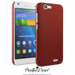 Coque pour Huawei Ascend G7 touché gomme marque Pacific Cases® - rouge