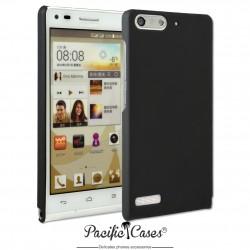 Coque pour Huawei Ascend G6 touché gomme marque Pacific Cases® - noir