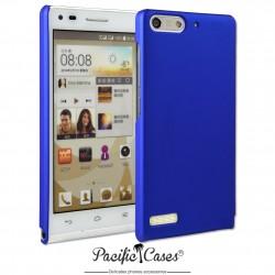 Coque pour Huawei Ascend G6 touché gomme marque Pacific Cases® - bleu foncé