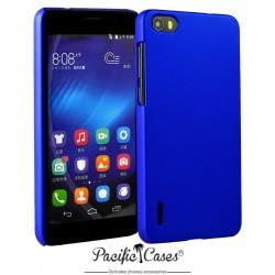 Coque pour Huawei Honor 6 touché gomme marque Pacific Cases® - bleu foncé