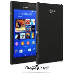 Coque pour Sony Xperia M2 Aqua touché gomme marque Pacific Cases® - noir
