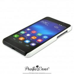 Coque pour Huawei Honor 6 touché gomme marque Pacific Cases® - blanc