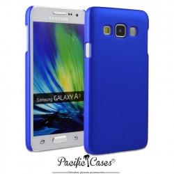 Coque pour Samsung A3 touché gomme marque Pacific Cases® - bleu foncé