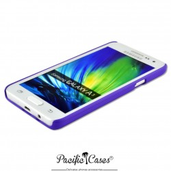 Coque pour Samsung A3 touché gomme marque Pacific Cases® - mauve