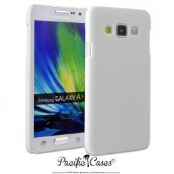 Coque pour Samsung A3 touché gomme marque Pacific Cases® - blanc