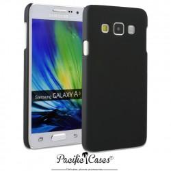 Coque pour Samsung A3 touché gomme marque Pacific Cases® - noir