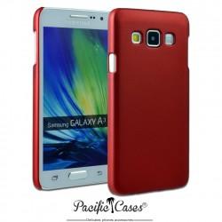 Coque pour Samsung A3 touché gomme marque Pacific Cases® - rouge