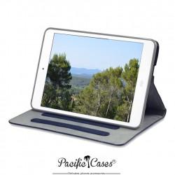 étui pour iPad Mini bleu marine fonction stand marque Pacific Cases®