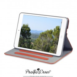 étui pour iPad Mini orange fonction stand marque Pacific Cases®