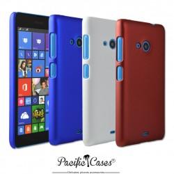 Coque pour Microsoft Lumia 535  rigide touché gomme par Pacific Cases  lot de 3 - bleu blanc rouge