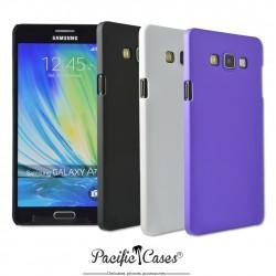 Coque pour Samsung Galaxy A7  rigide touché gomme par Pacific Cases  lot de 3 - noir blanc mauve